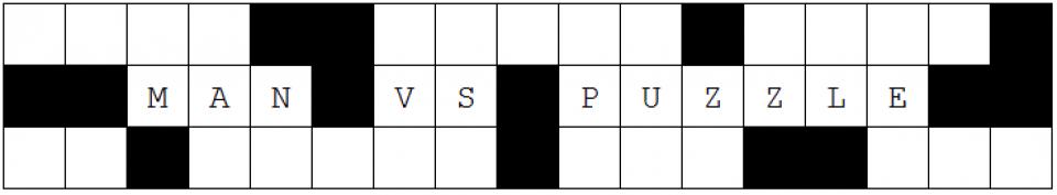 Man vs. Puzzle